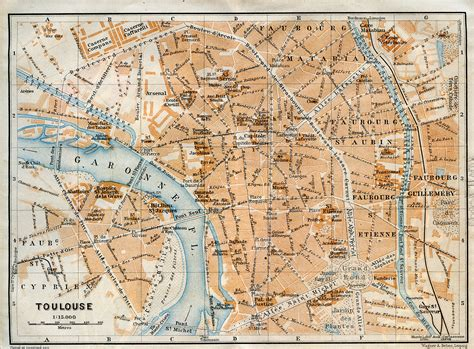 map of toulouse free maps of