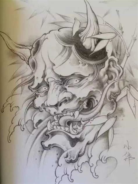 japanese mask tattoo designs 449 best hannya oni images on
