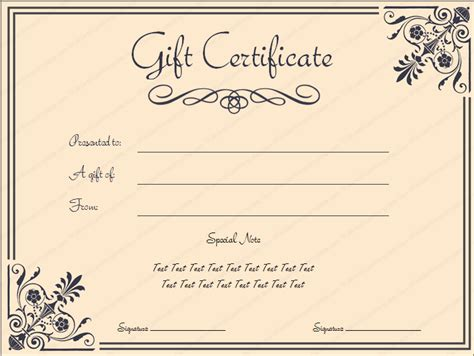 printable gift certificates template giftvoucher gifttemplate giftcertificate
