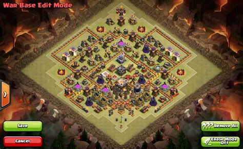 base layout yang baik town hall 11 war base design clash of clans terkuat pro
