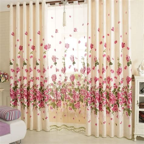 beautiful curtain beautiful floral curtains cotton material pastoral curtain