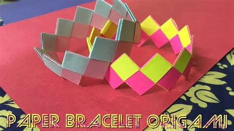 How To Make Paper Bracelets - paper bracelet origami tutorial and easy diy