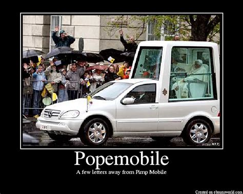 pope mobile popemobile picture ebaum s world