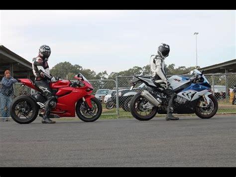 hayabusa vs bmw s1000rr motorcycles drag racing
