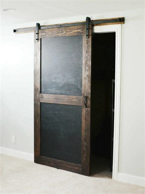 chalkboard sliding barn door walston door company