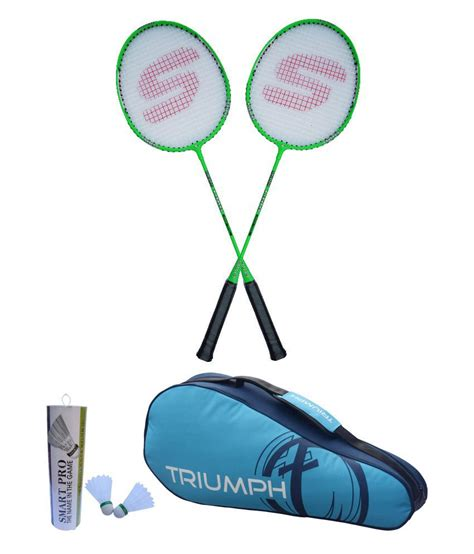 Shuttlecock Green Pro By Gs Sport triumph smart 1980 badminton 2 racket green 1 pro 302