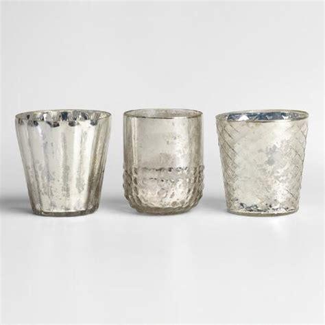 Mercury Glass by Silver Mercury Glass Votive Candleholders Set Of 3