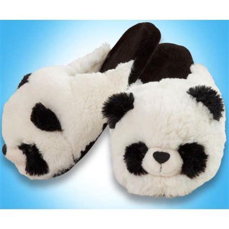 pillow pet slippers my pillow pets panda slippers small walmart
