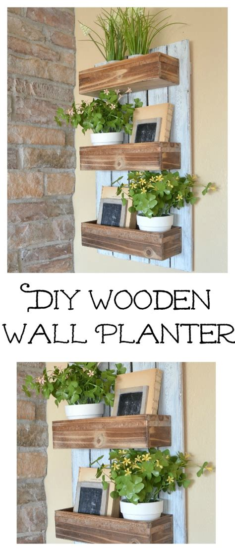 Wooden Wall Planters by Diy Wooden Wall Planter Vintage Nest