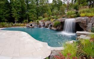 pools with waterfalls breathtaking pool waterfall design ideas