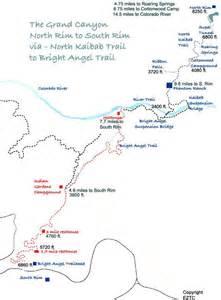 colorado river map grand to hiking map for the grand colorado
