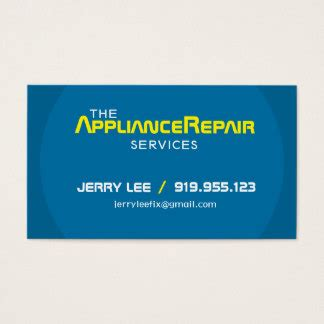 appliance repair business cards templates appliance repair business cards templates zazzle