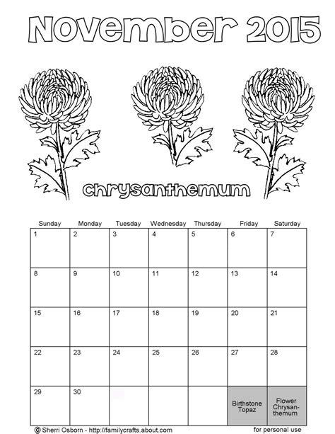 november holidays coloring pages 2015 november kids coloring calender calendar template 2016
