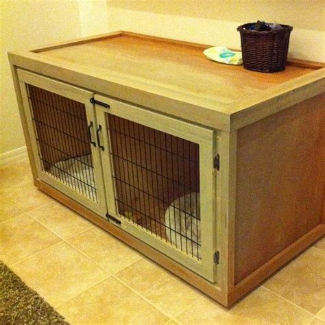 dog crate furniture bench wooden dog crates woodworking projects plans
