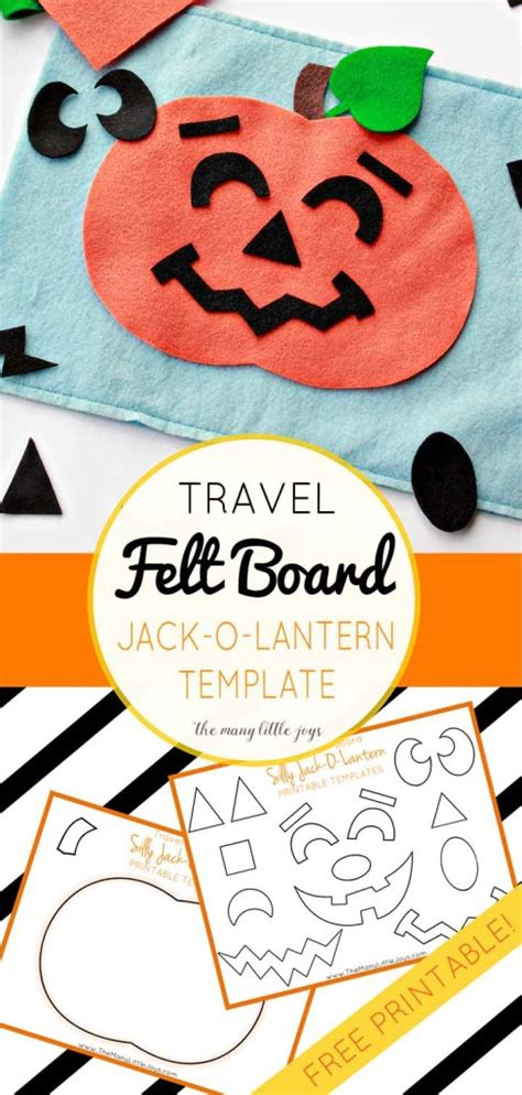 travel felt board silly jack  lantern play set