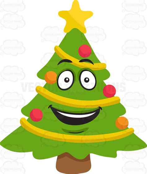happiest christmastree a happy tree clipart by vector