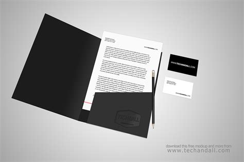 Open Folder Branding Identity Mock Up Welcome To Tech All Folder Mockup Free