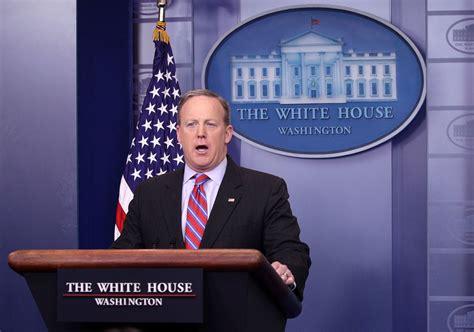 white house press secretary white house press secretary sean spicer holds press briefing 1 of 7 zimbio