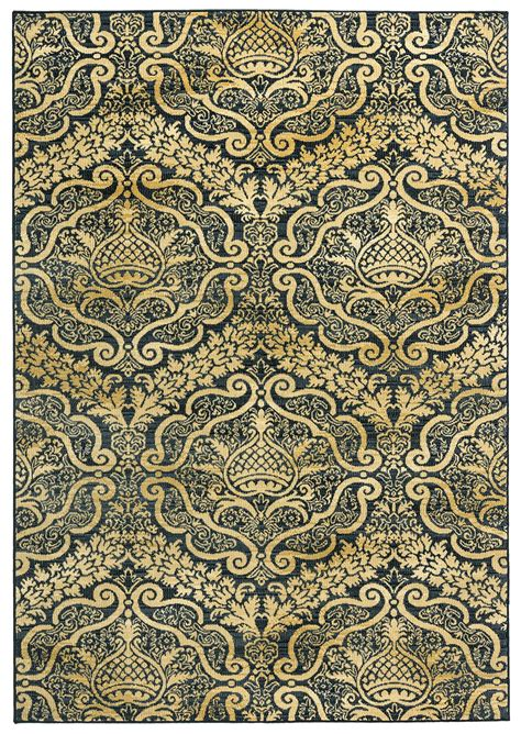 Pattern Area Rugs Royal Ornamental Pattern Area Rug In Black 5 3 Quot X 7 7 Quot