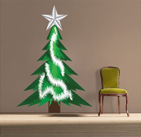 christmas tree tinsel wall decal christmas murals
