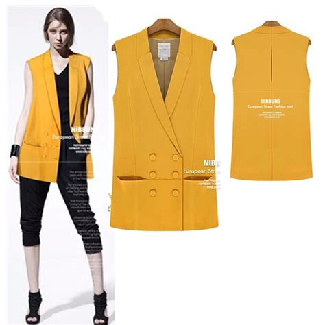 Button Veste Blazer Vest Jaket Outer Wanita White vest suit promotion shopping for promotional vest suit on aliexpress alibaba