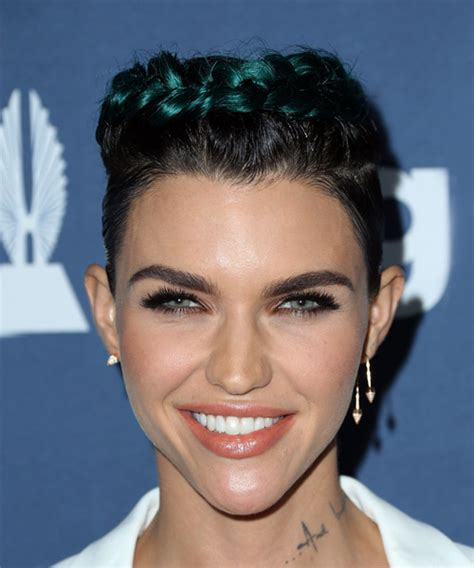 ruby rose hairstyles ruby rose short straight casual braided hairstyle black