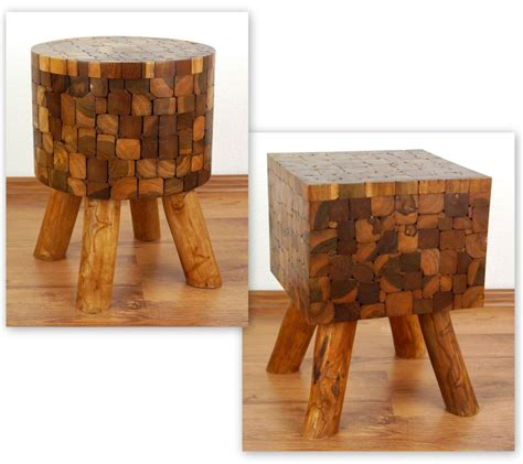 Buy Handmade Furniture - teak wood bedside table rustic design handmade furniture