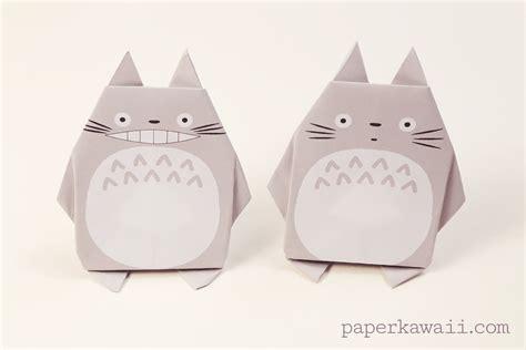 Origami Totoro - origami totoro tutorial free printable paper paper kawaii