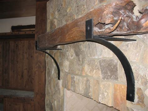 Mantle Brackets Taylored Iron Custom Iron Works Taylored For You