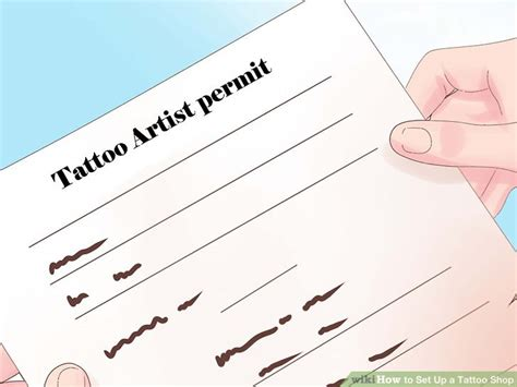 how to start tattooing how to set up a shop 5 steps with pictures wikihow