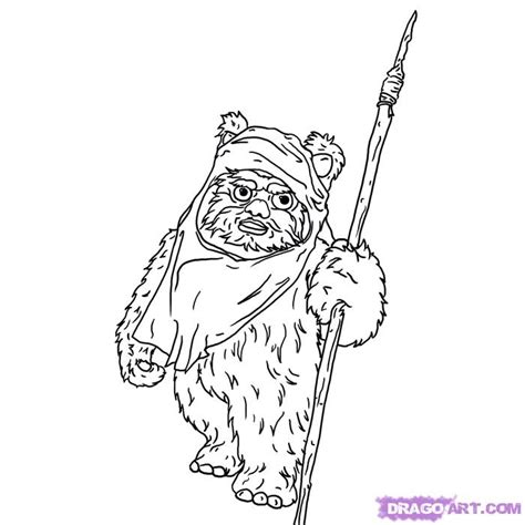star wars coloring pages easy how to draw an ewok step by step star wars characters