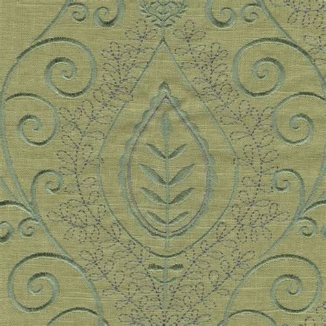 embroidered linen drapery fabric society hill lemon grass green embroidered linen drapery