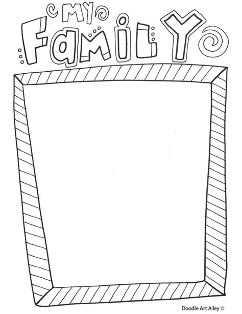 family portrait coloring page free coloring pages doodle art alley