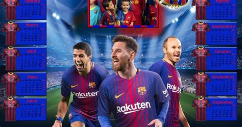 barcelona psd calendarios para photoshop calendario del 2018 del f c