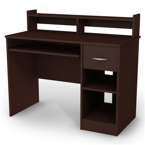 small brown desk axess small desk in chocolate brown dcg stores