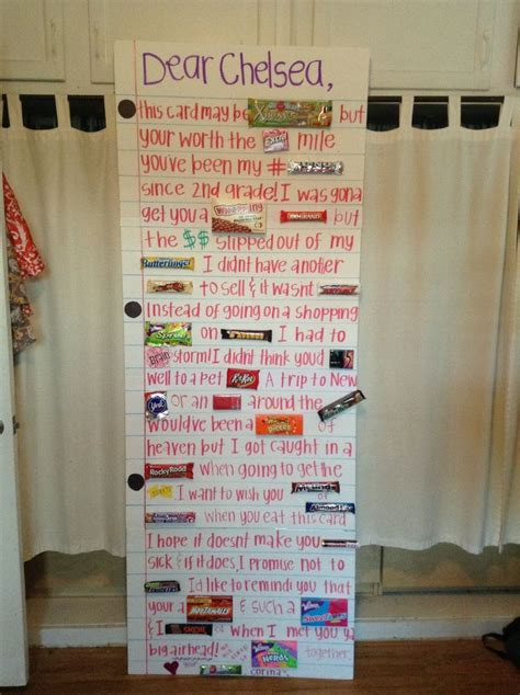 how to make a big birthday card diy card with candies birthday ideas