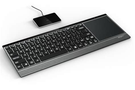 air lighted keyboard rapoo e9090p wireless illuminated keyboard with touchpad