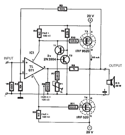 Power Lifier Ca 20 stereo audio lifier circuit diagram stereo free