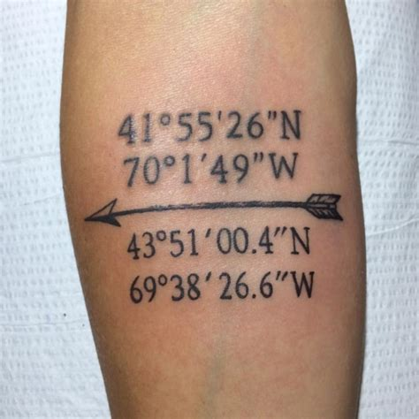 tattoo fonts for coordinates 66 adventure coordinates ideas for your next trip