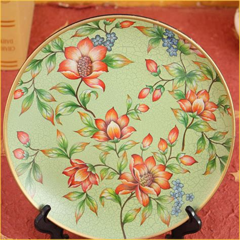 decorative crafts for home decorative plate sitting living room wobble earthenware