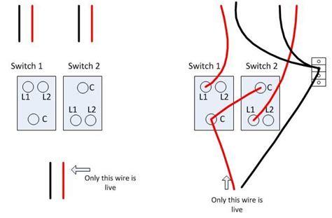 change 2 1 way light switch in kitchen wiring probs