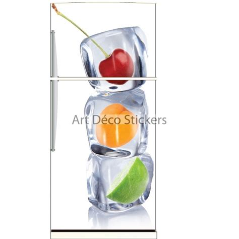 sticker frigo d 233 co cuisine fruits et gla 231 ons stickers
