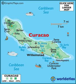 printable curacao road map curacao map geography of curacao map of curacao
