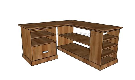 Plans For Corner Desk Corner Desk Plans Howtospecialist How To Build Step