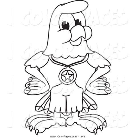 cartoon eagle coloring pages royalty free bald eagle cartoon character stock coloring