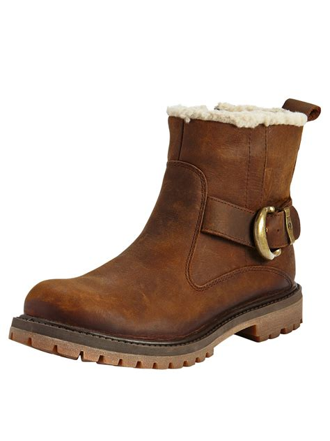 timberland timberland nellie biker ankle boots in brown