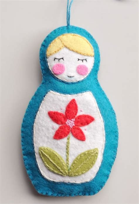 matryoshka doll ornament craft ideas pinterest