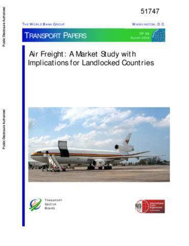 okr air freight a market study with implications for landlocked countries