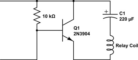 capacitor transistor circuit transistors mystery circuit latching relay with transitor capacitor why doesn t