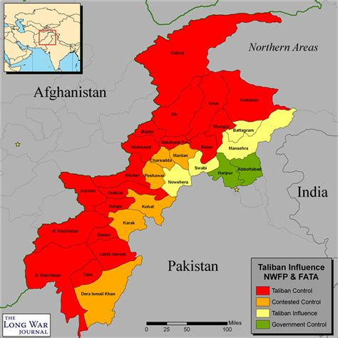 where is taliban on the world map pakistan page 2